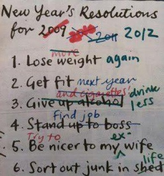 Pete's new year resolutions